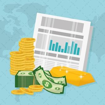 ビジネス、お金、グローバル経済