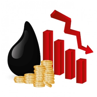 石油と石油価格の設計。