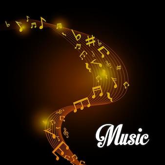 音楽デジタルデザイン。