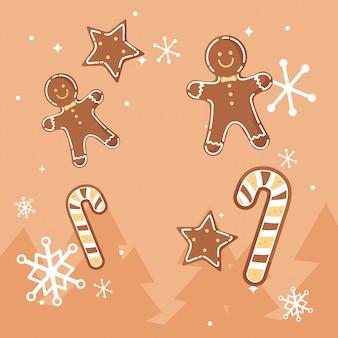 クリスマスクッキーのデザイン
