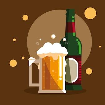 ビール瓶の瓶を持つボトル
