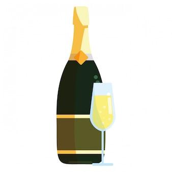 シャンパンボトルのアイコン