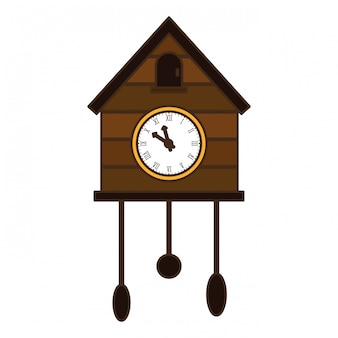 茶色の鳩時計アイコン画像