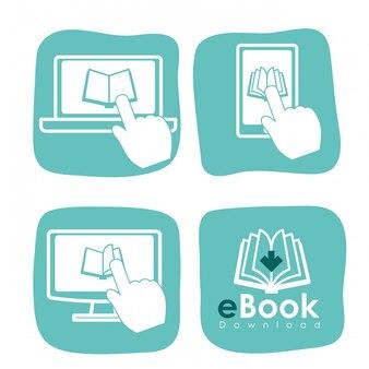 Дизайн иконок электронных книг