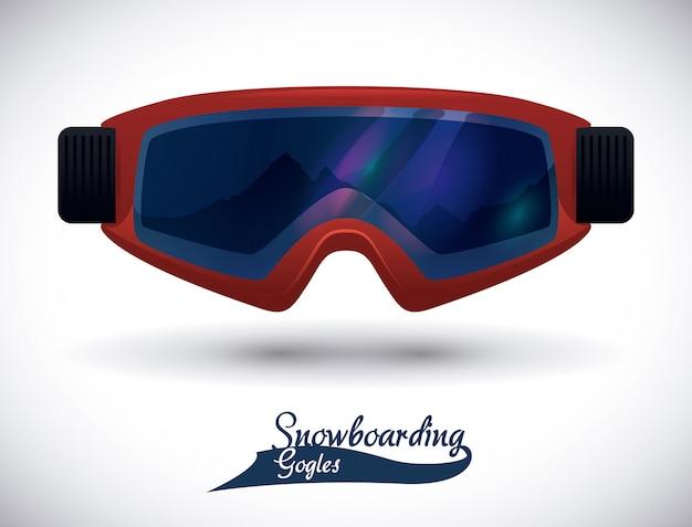 Сноуборд дизайн, векторные иллюстрации.
