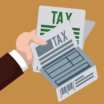 税のデザイン、ベクトルイラスト。