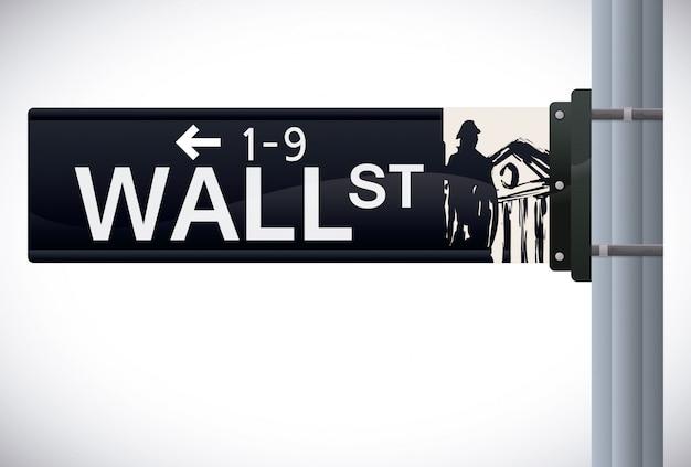 Уолл-стрит дизайн, векторные иллюстрации.