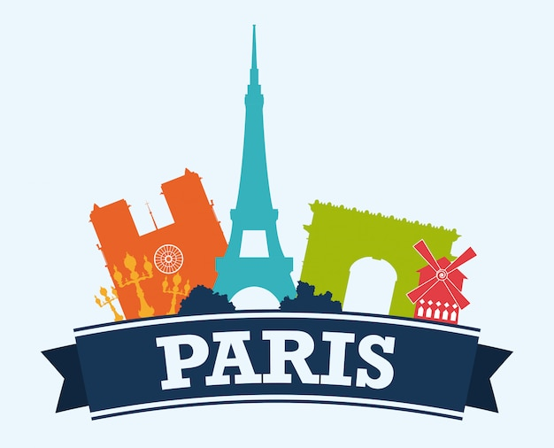 Париж дизайн, векторные иллюстрации.
