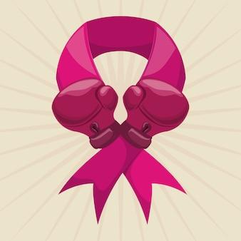 乳がんのデザイン、ベクトル図。