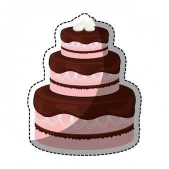 飾られたケーキペストリーのアイコンイメージ