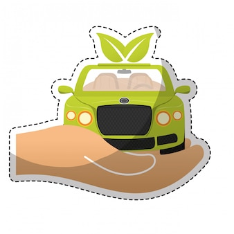 Изображение значка экологически чистого автомобиля