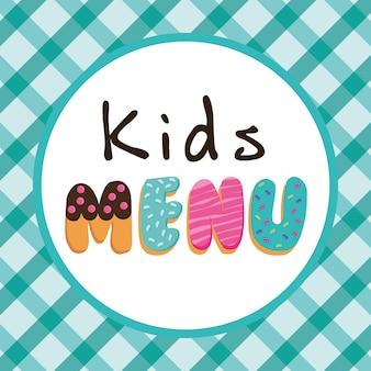 Дизайн детского меню.