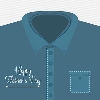 幸せな父親の日カードデザイン。