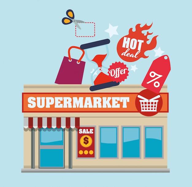 スーパーマーケットのデザイン