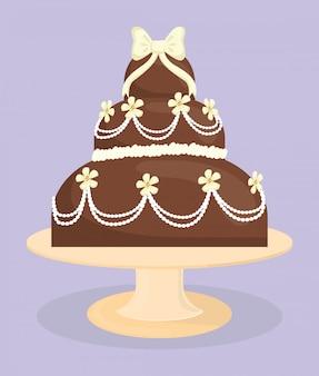デザートケーキのデザイン。