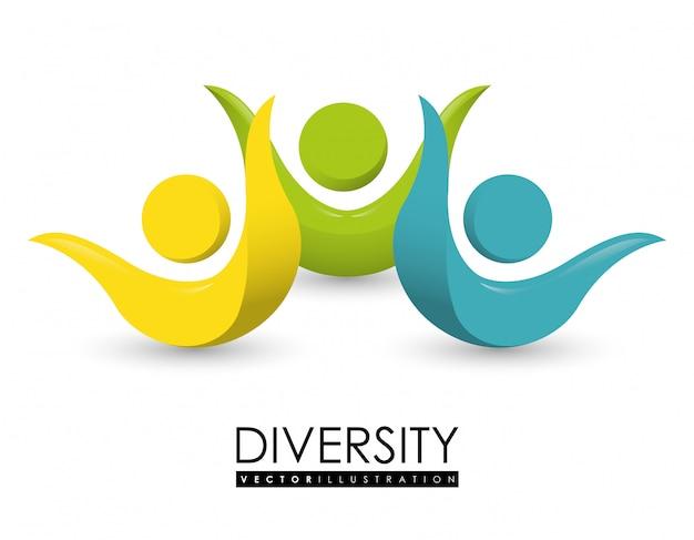 多様性人のデザイン