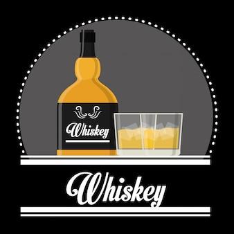 ウイスキーのアイコンデザイン