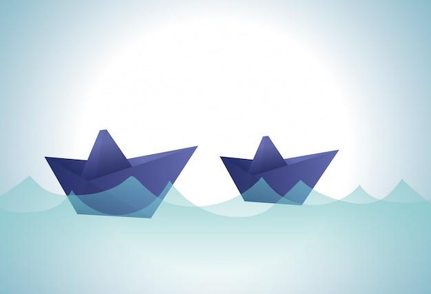 Оригами дизайн иллюстрация