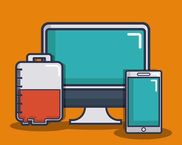 スマートフォン、医療機器関連のアイコン