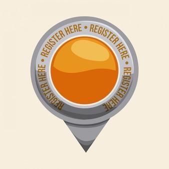 Дизайн кнопки регистрации