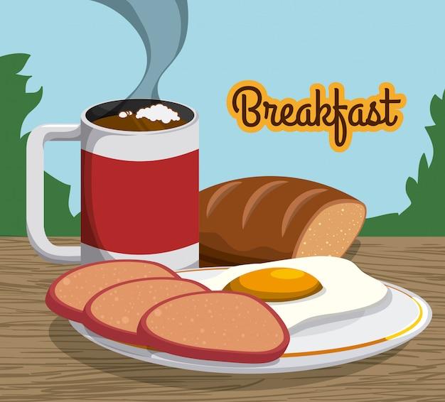Дизайн завтрака.