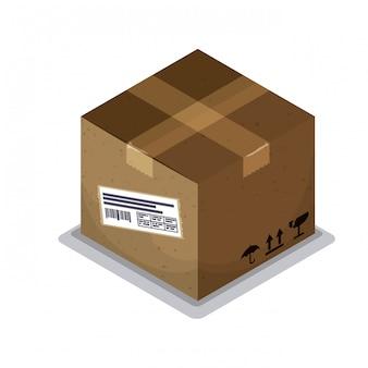 配達箱のデザイン。