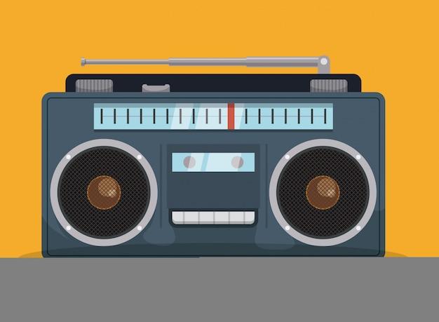 Радио винтажный дизайн.