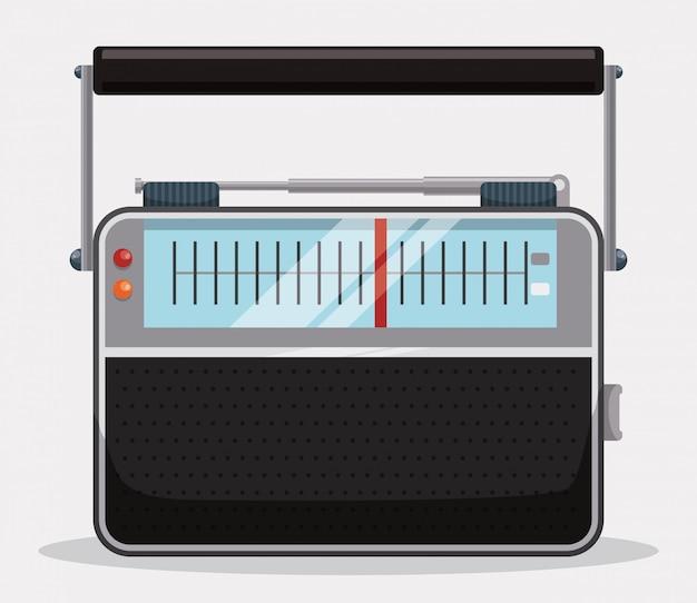 ラジオのビンテージデザイン。