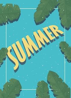 Привет лето модный баннер