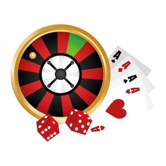 カジノ関連のクリップアート画像