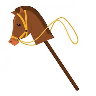 馬のおもちゃクリップアート画像