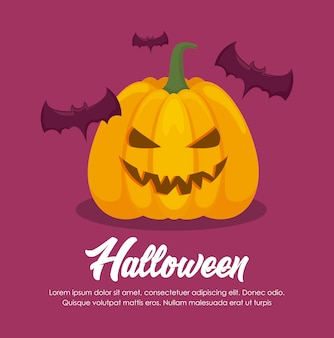 Празднование хэллоуина баннер
