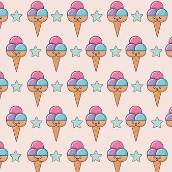 かわいいアイスクリーム