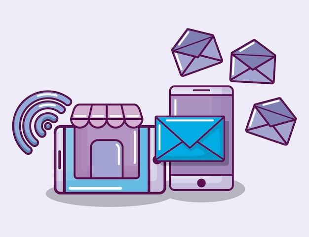 Смартфон с электронным бизнесом