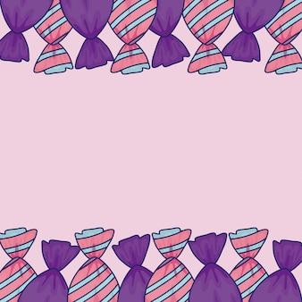 甘いお菓子フレームの袋のフレーム