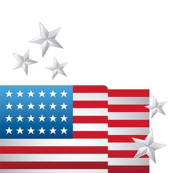 星の装飾を持つアメリカ合衆国の国旗