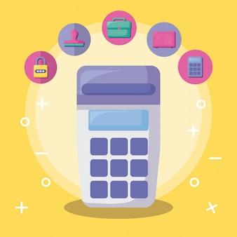 経済とアイコンセットの金融伝票