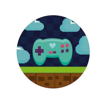 シーン内のビデオゲームコントロールのピクセル化