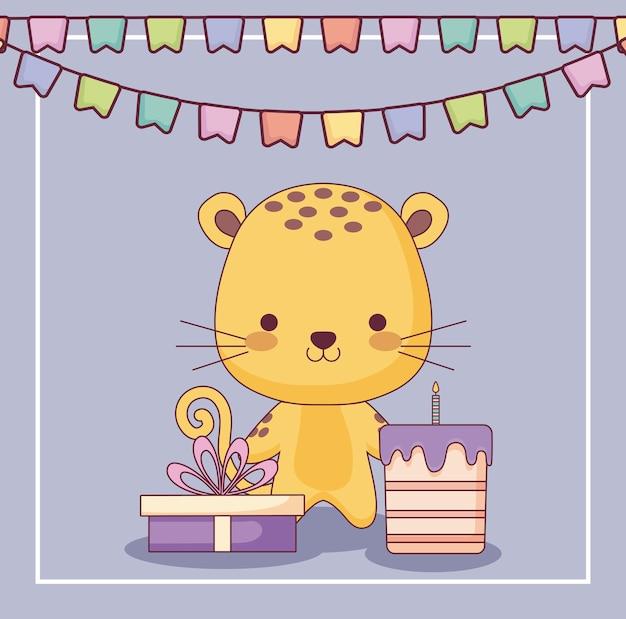 かわいい虎お誕生日おめでとうカード