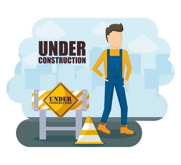 建設労働者のアバターキャラクター