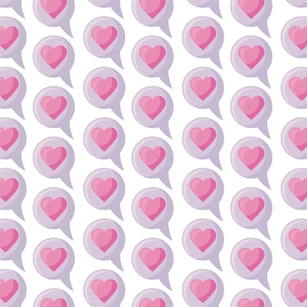 Структура речи пузырь с любовью сердца