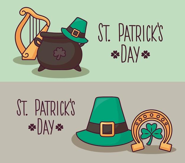 Набор карточек дня святого патрика