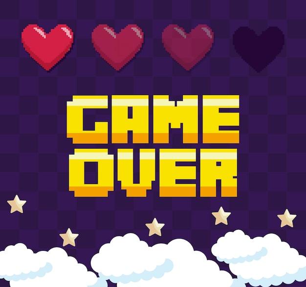 メッセージの上の古典的なビデオゲーム