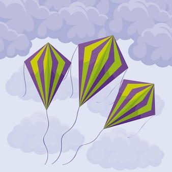 Воздушные змеи в небе