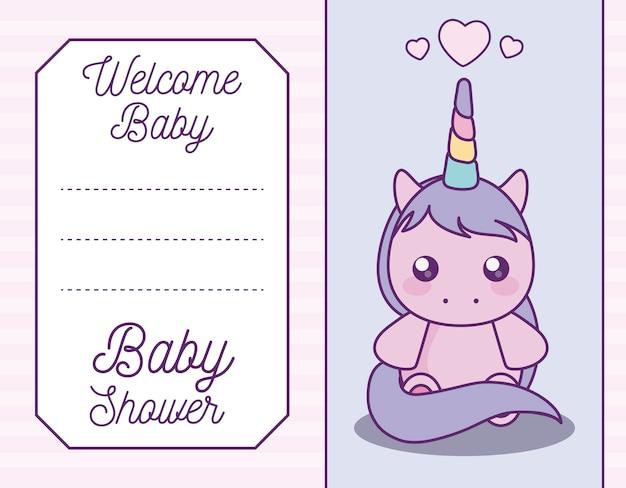 Детская открытка с милым единорогом
