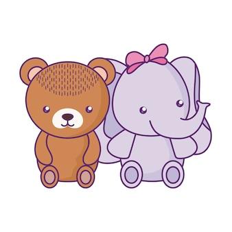Милый маленький медведь с характером слоненка