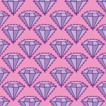 貴重なダイヤモンドのパッチのシームレスパターン
