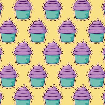 Бесшовные патчи сладких кексов