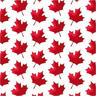 シームレスパターンの葉メープルカナダ