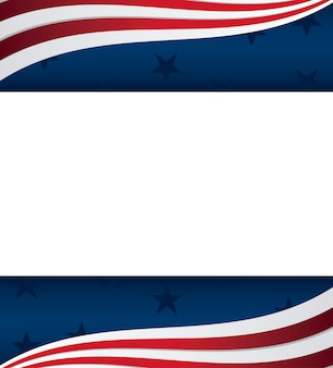 Рамка из соединенных штатов америки значки американского флага
